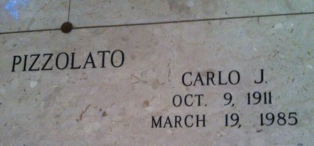 PIZZOLATO, CARLO J - Ascension County, Louisiana | CARLO J PIZZOLATO - Louisiana Gravestone Photos