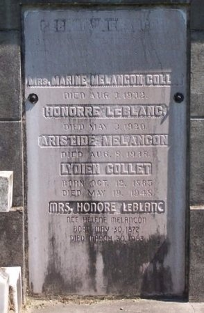 COLLET, MARINE ANTOINETTE - Ascension County, Louisiana | MARINE ANTOINETTE COLLET - Louisiana Gravestone Photos