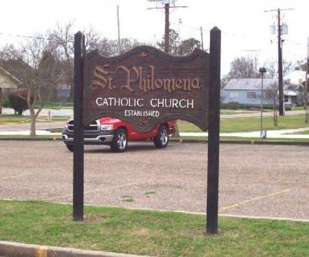* SIGN, ST PHILOMENA CATHOLIC CHURCH - Assumption County, Louisiana | ST PHILOMENA CATHOLIC CHURCH * SIGN - Louisiana Gravestone Photos