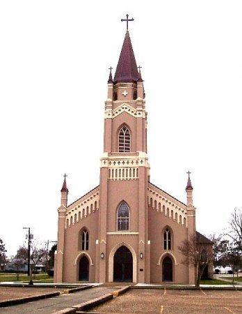 *CHURCH, ST PHILOMENA - Assumption County, Louisiana   ST PHILOMENA *CHURCH - Louisiana Gravestone Photos