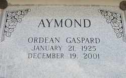 AYMOND, ORDEAN - Avoyelles County, Louisiana | ORDEAN AYMOND - Louisiana Gravestone Photos
