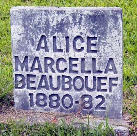 BEAUBOUEF, ALICE MARCELLA - Avoyelles County, Louisiana | ALICE MARCELLA BEAUBOUEF - Louisiana Gravestone Photos