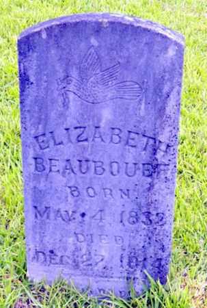 BEAUBOUEF, ELIZABETH - Avoyelles County, Louisiana | ELIZABETH BEAUBOUEF - Louisiana Gravestone Photos