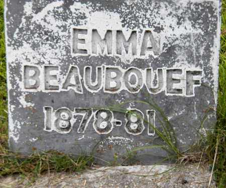 BEAUBOUEF, EMMA - Avoyelles County, Louisiana   EMMA BEAUBOUEF - Louisiana Gravestone Photos
