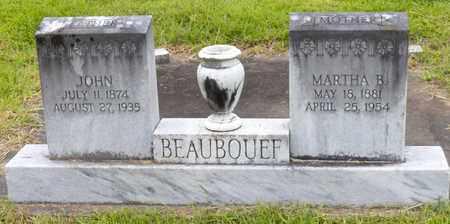BEAUBOUEF, MARTHA JANE - Avoyelles County, Louisiana | MARTHA JANE BEAUBOUEF - Louisiana Gravestone Photos
