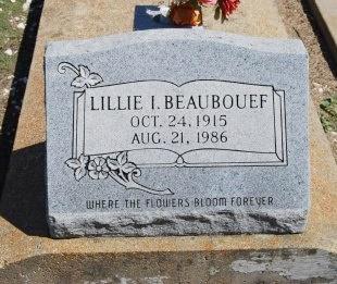 BEAUBOUEF, LILLIE IRENE - Avoyelles County, Louisiana | LILLIE IRENE BEAUBOUEF - Louisiana Gravestone Photos