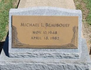 BEAUBOUEF, MICHAEL LEE - Avoyelles County, Louisiana | MICHAEL LEE BEAUBOUEF - Louisiana Gravestone Photos