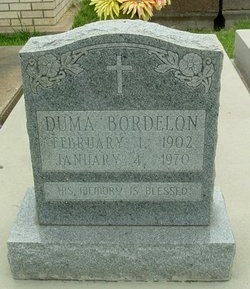 BORDELON, DUMA - Avoyelles County, Louisiana | DUMA BORDELON - Louisiana Gravestone Photos