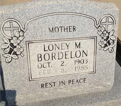 BORDELON, LONEY M - Avoyelles County, Louisiana | LONEY M BORDELON - Louisiana Gravestone Photos