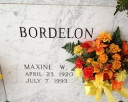 BORDELON, MAXINE VIOLET - Avoyelles County, Louisiana | MAXINE VIOLET BORDELON - Louisiana Gravestone Photos