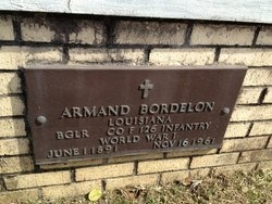 BORDELON, ARMAND (VETERAN WWI) - Avoyelles County, Louisiana | ARMAND (VETERAN WWI) BORDELON - Louisiana Gravestone Photos