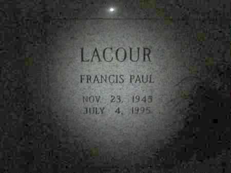 LACOUR, FRANCIS PAUL - Avoyelles County, Louisiana | FRANCIS PAUL LACOUR - Louisiana Gravestone Photos