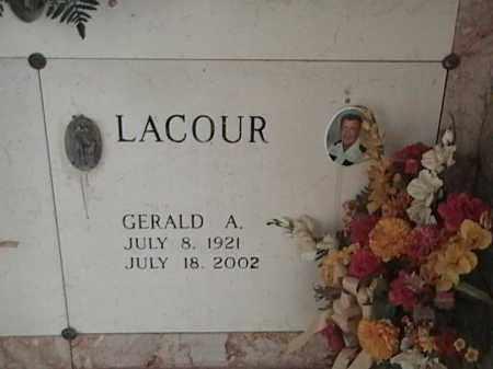 LACOUR, GERALD A - Avoyelles County, Louisiana | GERALD A LACOUR - Louisiana Gravestone Photos