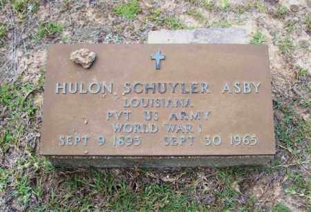 ASBY, HOLUN SCHUYLER ( VETERAN WWI ) - Beauregard County, Louisiana | HOLUN SCHUYLER ( VETERAN WWI ) ASBY - Louisiana Gravestone Photos