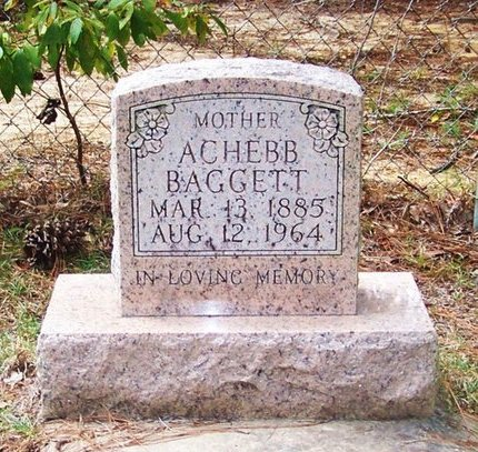 BAGGETT, ACHEBB - Beauregard County, Louisiana | ACHEBB BAGGETT - Louisiana Gravestone Photos