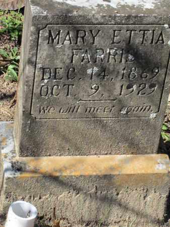 FARRIS, MARY ETTIA - Beauregard County, Louisiana   MARY ETTIA FARRIS - Louisiana Gravestone Photos
