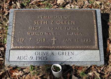 GREEN, SETH Z  (VETERAN 2 WARS) - Beauregard County, Louisiana   SETH Z  (VETERAN 2 WARS) GREEN - Louisiana Gravestone Photos