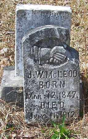 MCLEOD, J W - Beauregard County, Louisiana | J W MCLEOD - Louisiana Gravestone Photos