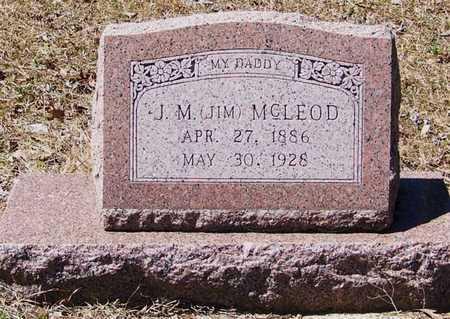 "MCLEOD, J M ""JIM"" - Beauregard County, Louisiana | J M ""JIM"" MCLEOD - Louisiana Gravestone Photos"
