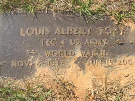 TOBY, LOUIS ALBERT (VETERAN WWII) - Beauregard County, Louisiana | LOUIS ALBERT (VETERAN WWII) TOBY - Louisiana Gravestone Photos