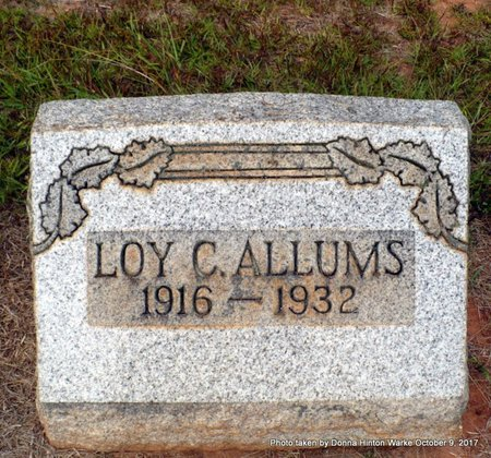 ALLUMS, LOY CHESTER - Bienville County, Louisiana | LOY CHESTER ALLUMS - Louisiana Gravestone Photos