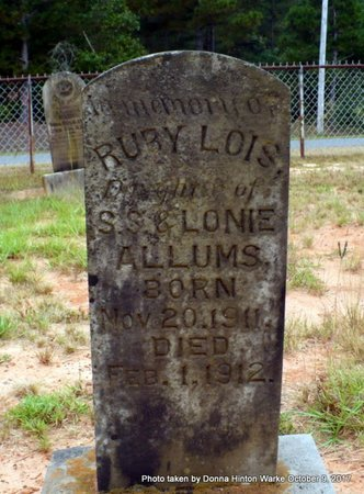 ALLUMS, RUBY LOIS - Bienville County, Louisiana | RUBY LOIS ALLUMS - Louisiana Gravestone Photos