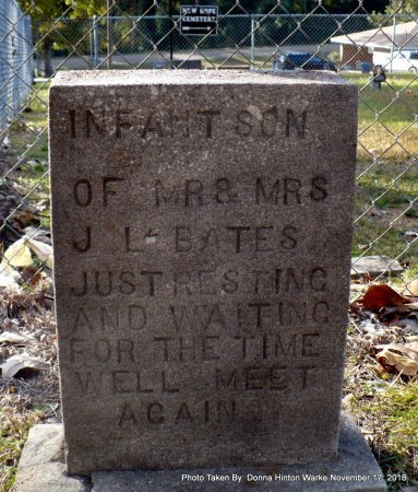 BATES, INFANT SON - Bienville County, Louisiana   INFANT SON BATES - Louisiana Gravestone Photos