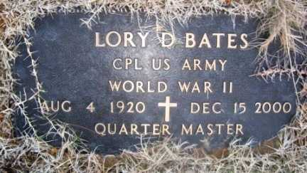 BATES, LORY D (VETERAN WWII) - Bienville County, Louisiana   LORY D (VETERAN WWII) BATES - Louisiana Gravestone Photos