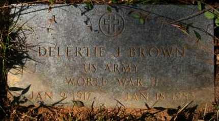 BROWN, DELERTIE J - Bienville County, Louisiana | DELERTIE J BROWN - Louisiana Gravestone Photos