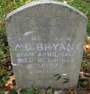 BRYANT, A. D. - Bienville County, Louisiana | A. D. BRYANT - Louisiana Gravestone Photos
