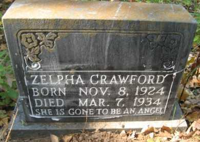 CRAWFORD (STONE 3), ZELPHA - Bienville County, Louisiana | ZELPHA CRAWFORD (STONE 3) - Louisiana Gravestone Photos