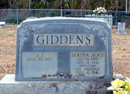 GIDDENS, BERTHA ALICE - Bienville County, Louisiana | BERTHA ALICE GIDDENS - Louisiana Gravestone Photos