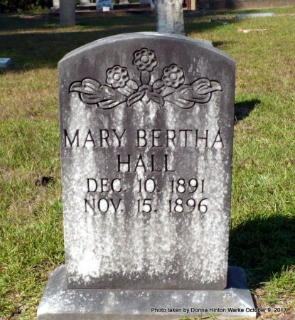 HALL, MARY BERTHA - Bienville County, Louisiana | MARY BERTHA HALL - Louisiana Gravestone Photos