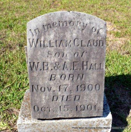 HALL, WILLIAM CLAUD - Bienville County, Louisiana | WILLIAM CLAUD HALL - Louisiana Gravestone Photos