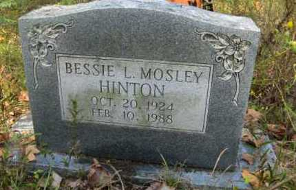 MOSLEY HINTON, BESSIE L - Bienville County, Louisiana | BESSIE L MOSLEY HINTON - Louisiana Gravestone Photos