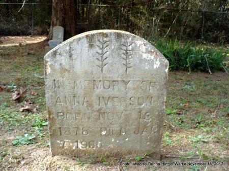 IVERSON, ANNA - Bienville County, Louisiana   ANNA IVERSON - Louisiana Gravestone Photos