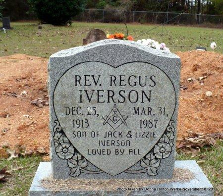 IVERSON, REV. REGUS - Bienville County, Louisiana   REV. REGUS IVERSON - Louisiana Gravestone Photos
