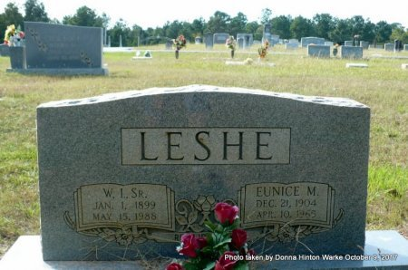 LESHE, WILLIAM IRVEN SR - Bienville County, Louisiana | WILLIAM IRVEN SR LESHE - Louisiana Gravestone Photos