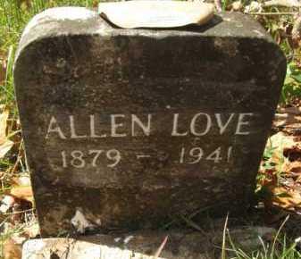 LOVE, ALLEN - Bienville County, Louisiana   ALLEN LOVE - Louisiana Gravestone Photos
