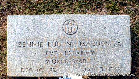 MADDEN , ZENNIE EUGENE, JR (VETERAN WWII) - Bienville County, Louisiana   ZENNIE EUGENE, JR (VETERAN WWII) MADDEN  - Louisiana Gravestone Photos