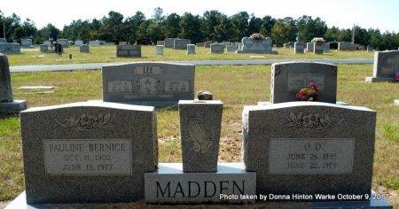 MADDEN, O. D. - Bienville County, Louisiana | O. D. MADDEN - Louisiana Gravestone Photos