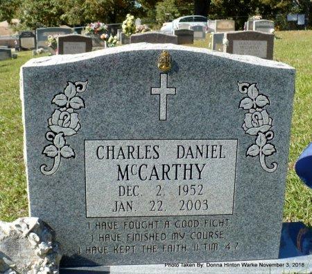 MCCARTHY, CHARLES DANIEL - Bienville County, Louisiana | CHARLES DANIEL MCCARTHY - Louisiana Gravestone Photos