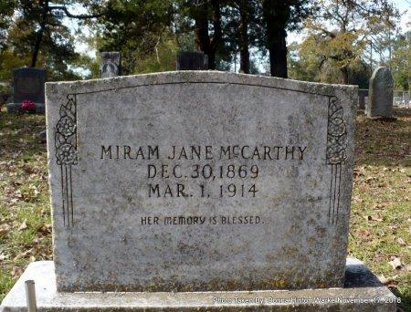 MCCARTHY, MIRAM JANE - Bienville County, Louisiana | MIRAM JANE MCCARTHY - Louisiana Gravestone Photos