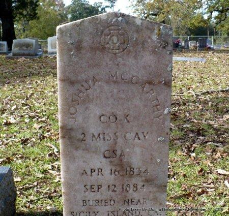 MCCARTHY  , JOSHUA (VETERAN CSA) - Bienville County, Louisiana | JOSHUA (VETERAN CSA) MCCARTHY   - Louisiana Gravestone Photos