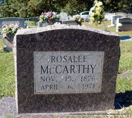 MCCARTHY, SARAH ROSALEE - Bienville County, Louisiana | SARAH ROSALEE MCCARTHY - Louisiana Gravestone Photos