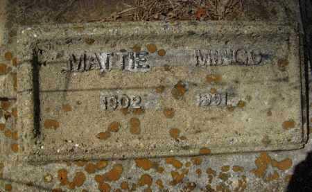 MINGO  , MATTIE (CLOSEUP) - Bienville County, Louisiana   MATTIE (CLOSEUP) MINGO   - Louisiana Gravestone Photos