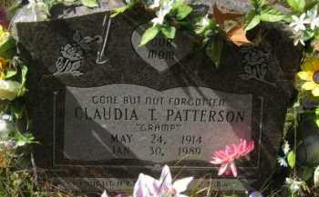 PATTERSON, CLAUDIA T - Bienville County, Louisiana | CLAUDIA T PATTERSON - Louisiana Gravestone Photos
