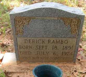 RAMBO, DERICK - Bienville County, Louisiana | DERICK RAMBO - Louisiana Gravestone Photos