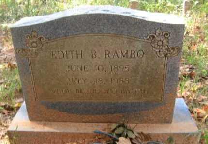 RAMBO, EDITH B - Bienville County, Louisiana   EDITH B RAMBO - Louisiana Gravestone Photos