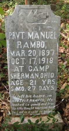 RAMBO, PRVT., MANUEL - Bienville County, Louisiana | MANUEL RAMBO, PRVT. - Louisiana Gravestone Photos